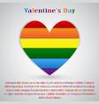 lgbt pride flag heart rainbow pride symbol vector image vector image