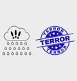 line strong rain clouds icon and distress vector image vector image