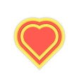 luminous red and yellow heart icon vector image vector image