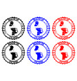 made in macau rubber stamp vector image vector image