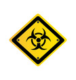 metal biohazard warning sign icon vector image vector image