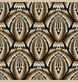 modern 3d geometric seamless pattern vector image
