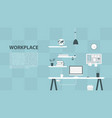 modern design workplace vector image