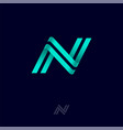n letter monogram lines symbol vector image vector image