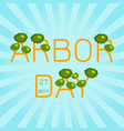national arbor day text arbor day in the form of vector image vector image