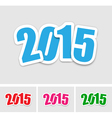 New year 2015 stickers vector image vector image
