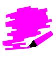 purple marker copy space vector image vector image