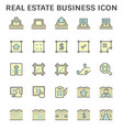 real estate business and land investment icon vector image
