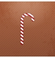 Realistic Christmas white red striped Candy Cane vector image vector image