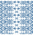 seamless ikat pattern blue vector image vector image