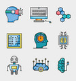 set artificial intelligence technology vector image vector image