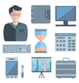 Set man calculators purse vector image
