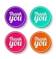 Set of thank you stickers labels vector image