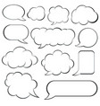 set retro empty comic speech bubbles vector image