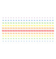 sinusoid waves shape halftone spectral array vector image vector image