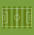 soccer field football game vector image vector image