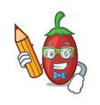 student goji berries character cartoon vector image