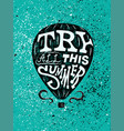 summer air balloon typographic grunge poster vector image