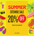 summer sale with discount template vector image vector image