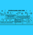 united states new york staten island winter vector image vector image