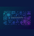 video security colored horizontal banner vector image vector image