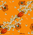 vintage background hand drawn chamomile and vector image