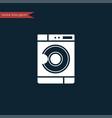 washing mashine icon simple vector image