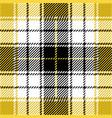 yellow tartan plaid seamless pattern vector image vector image
