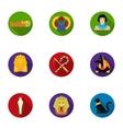 Ancient Egypt set icons in flat style Big vector image