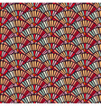 Colorful hand fan mosaic tile seamless pattern vector image