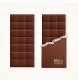 Milk Chocolate Package Bar Blank vector image