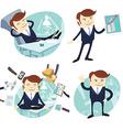 Set of officeman lazy worker foot on desk salesman vector image