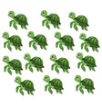turtle pattern background cute cartoon vector image