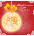 Christmas card with Christmas ball vector image