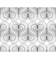 Abstract pattern with a lined symmetric hearts vector image vector image