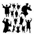 academic graduation silhouettes vector image