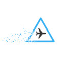 airplane danger moving pixel icon vector image vector image