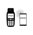 approved terminal payment icon simple approved vector image