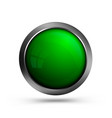 beautiful glass button in green color vector image vector image