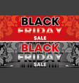 black friday sale flyer background design vector image