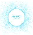 Blue Abstract Circle Frame Design Element vector image vector image