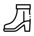 boot shoe icon outline vector image vector image