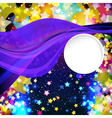 Bright colorful flying stars vector image vector image