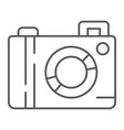 camera thin line icon lens and photo photocamera vector image vector image