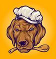 chef food dog mascot vector image