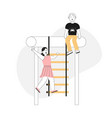 children playing at playground isolated scenes vector image
