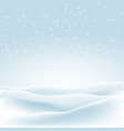 christmas background with winter snow vector image vector image