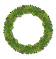 circle frame with oak green leaves isolated on vector image vector image