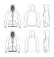 clothing set raglan hoodie vector image vector image