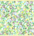 colorful seamless geometrical mosaic triangle vector image vector image